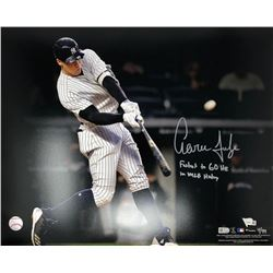 "Aaron Judge Signed Yankees 16x20 Limited Edition Photo Inscribed ""Fastest to 60 HR in MLB History"" ("