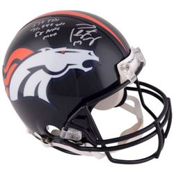 "Peyton Manning Signed Broncos Full-Size Authentic On-Field Helmet Inscribed ""539 TDS"", ""71,940 Yards"