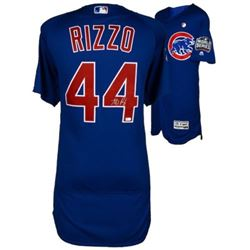 Anthony Rizzo Signed Cubs Majestic Jersey with 2017 World Series Patch (Fanatics Hologram)