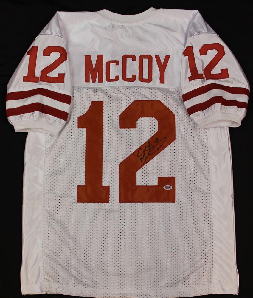 hot sales 47f7d 4a6c6 Colt McCoy Signed Texas Longhorns Jersey (PSA COA)