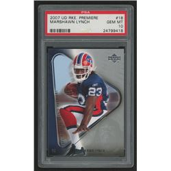 2007 Upper Deck Rookie Premiere #18 Marshawn Lynch (PSA 10)