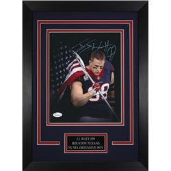 J. J. Watt Signed Texans 14x18.5 Custom Framed Photo Display (JSA COA)