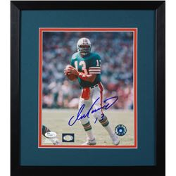Dan Marino Signed Dolphins 13.75x15.5 Custom Framed Photo Display (JSA COA)