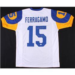 "Vince Ferragamo Signed Rams Jersey Inscribed ""79 NFC Champs"" (JSA COA)"