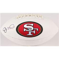 Joe Montana Signed 49ers Logo Football (JSA COA)