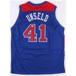 """Wes Unseld Signed Bullets Jersey Inscribed """"HOF 88"""" (JSA COA)"""