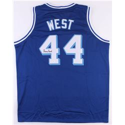 Jerry West Signed Lakers Throwback Jersey (JSA COA)
