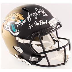 "Jimmy Smith Signed Jaguars Full-Size Speed Helmet Inscribed ""5x Pro Bowl"" (JSA COA)"