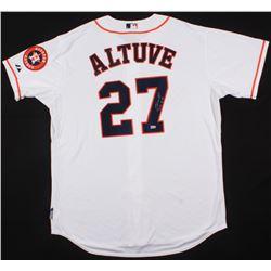 """Jose Altuve Signed Astros World Series Jersey Inscribed """"2014 AL BC"""" (MLB Hologram)"""