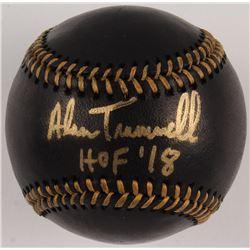 """Alan Trammell Signed OML Black Leather Baseball Inscribed """"HOF '18"""" (JSA COA)"""