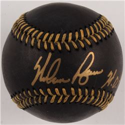 """Nolan Ryan Signed OML Black Leather Baseball Inscribed """"HOF '99"""" (JSA COA  Ryan Hologram)"""