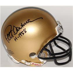 "Pete Dawkins Signed Army Black Knights Mini-Helmet Inscribed ""H-1958"" (JSA COA)"
