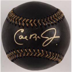 Cal Ripken Jr. Signed OML Black Leather Baseball (JSA COA)