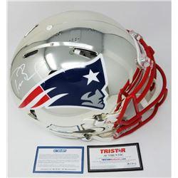 Tom Brady Signed Patriots Chrome Full-Size Authentic On-Field Speed Helmet (Steiner COA  TriStar Hol