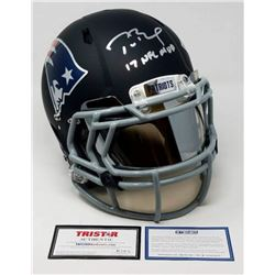 "Tom Brady Signed LE Patriots Custom Black Matte Full-Size Authentic On-Field Helmet Inscribed ""17 NF"