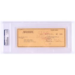 Clark Gable Signed 1984 Personal Bank Check (PSA Encapsulated)