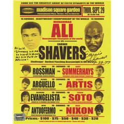 """Earnie Shavers Signed 8x10 Replica 1977 Fight Poster vs. Muhammad Ali Inscribed """"9-29-77"""" (Shavers H"""