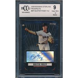 2008 Bowman Sterling Prospects #BP Buster Posey Autograph (BCCG 9)