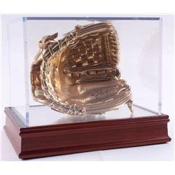 Barry Larkin Signed Rawlings Gold Mini-Baseball Glove (Beckett COA)