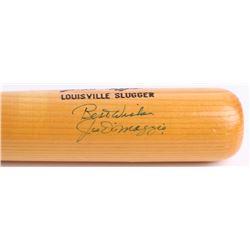 Joe DiMaggio Signed Louisville Slugger Powerized Custom Engraved Baseball Bat (JSA LOA)