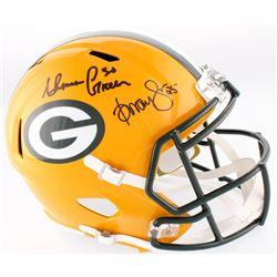 Ahman Green  Dorsey Levens Signed Packers Full-Size Speed Helmet (JSA COA)