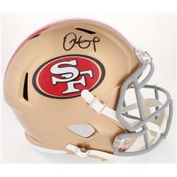 Dante Pettis Signed 49ers Full-Size Speed Helmet (JSA COA)