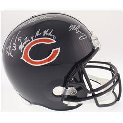 "Dick Butkus, Mike Singletary  Brian Urlacher Signed Bears Full-Size Helmet Inscribed ""Monsters of th"