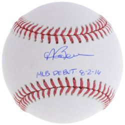 "Andrew Benintendi Signed Baseball Inscribed ""MLB Debut 8-2-16"" (Fanatics Hologram  MLB Hologram)"