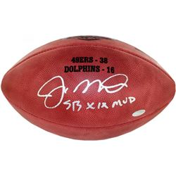 "Joe Montana Signed Super Bowl XIX Official Game Ball Inscribed ""SB XIX MVP"" (Steiner)"