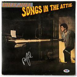 "Billy Joel Signed ""Songs in the Attic"" Vinyl Record Album (PSA COA)"
