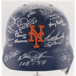 1986 Mets Authentic On-Field Helmet Team-Signed by (28) with Bud Harrelson, Ed Lynch, Ed Hearn, Darr