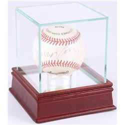 Roy Campanella Signed ONL Baseball with High Quality Display Case (JSA LOA)