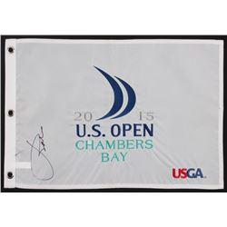 Jordan Spieth Signed 2015 U.S. Open Pin Flag (PSA LOA)