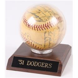 1951 Dodgers Baseball Team-Signed by (16) With Duke Snider, Roy Campanella, Pee Wee Reese, Carl Ersk