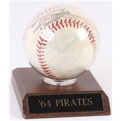 1964 Pirates ONL Baseball Team-Signed by (21) With Bill Mazeroski, Roberto Clemente, Willie Stargell