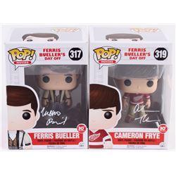 "Lot of (2) Signed ""Ferris Bueller's Day Off"" Funko Pop! Vinyl Figures With Matthew Broderick  Alan R"