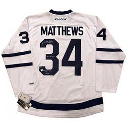 "Auston Matthews Signed LE Maple Leafs Jersey Inscribed ""2016 #1 Pick"" (Fanatics Hologram)"
