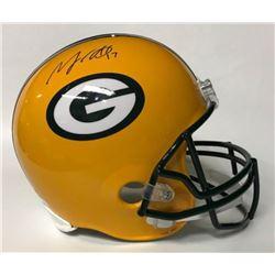 Davante Adams Signed Packers Full-Size Helmet (JSA COA)