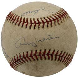 Yankees OAL Baseball Signed by (4) with Yogi Berra, Billy Martin, Phil Rizzuto  Bill White (Beckett