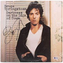 """Bruce Springsteen Signed """"Darkness On The Edge of Town"""" Vinyl Record Album Cover (Beckett LOA)"""