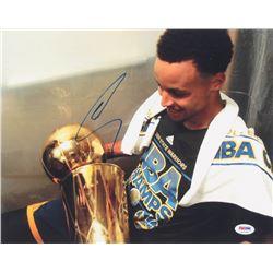 Stephen Curry Signed Warriors 11x14 Photo (PSA COA)