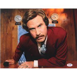 """Will Ferrell Signed """"Anchorman"""" 11x14 Photo (PSA COA)"""