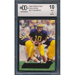 2000 Press Pass Gold Zone #37 Tom Brady (BCCG 10)