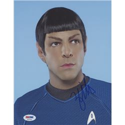 "Zachary Quinto Signed ""Star Trek"" 8x10 Photo (PSA COA)"
