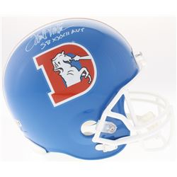 "Terrell Davis Signed Broncos Full-Size Throwback Helmet Inscribed ""SB XXXII MVP"" (Radtke COA)"