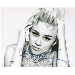 Miley Cyrus Signed 8x10 Photo (PSA COA)