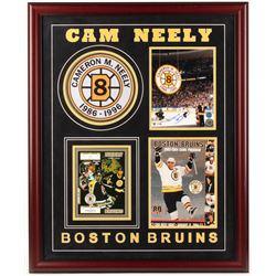 Cam Neely Signed Bruins 27x33 Custom Framed Photo Display with Game Program, Ticket Stub,  Retired #