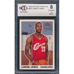 2003-04 Fleer Tradition #261 LeBron James RC (BCCG 8)