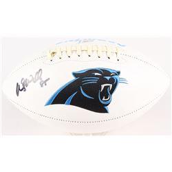 Wesley Walls Signed Panthers Logo Football (Radtke COA)