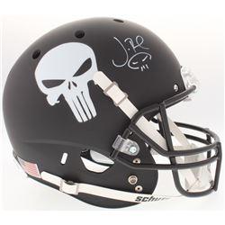 "Jon Bernthal Signed Custom Matte Black ""Punisher"" Full-Size Helmet with Original Skull Sketch (Radtk"